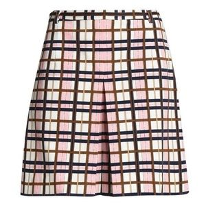 Tory Burch Plaid Skirt-Effect Shorts